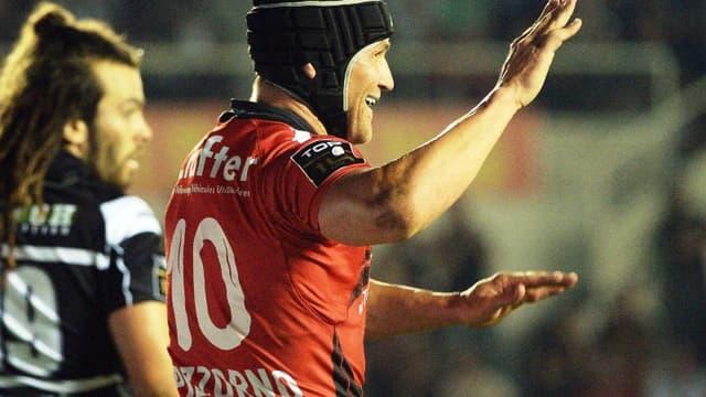 Matt Giteau, aligné à l'ouverture, a marqué deux essais pour Toulon