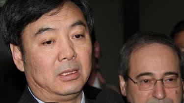 Zhai Jun, vice-ministre chinois des Affaires étrangères. Les forces du régime syrien ont poursuivi samedi leur bombardement de villes rebelles, dont Homs, alors que l'émissaire de la Chine doit rencontrer dans la journée Bachar al Assad à Damas pour tente