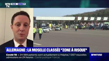 """Clément Beaune: """"Il y aura une obligation de tests réguliers, toutes les 48h"""" pour passer de la Moselle à l'Allemagne"""