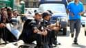 Policiers égyptiens anti-émeutes, place Tahrir, au Caire. La branche yéménite d'Al Qaïda a appelé samedi les musulmans à poursuivre les manifestations et à tuer de nouveaux diplomates américains en représailles au film islamophobe diffusé sur internet, al