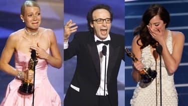 Gwyneth Paltrow, Roberto Benigni, Marion Cotillard, oscarisés et heureux de l'être.
