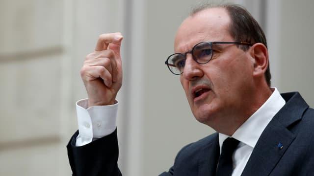Le Premier ministre Jean Castex s'exprime le 28 avril 2021 à Paris, à l'issue du Conseil des ministres