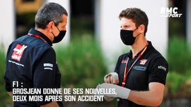 F1 : Grosjean donne de ses nouvelles, deux mois après son accident