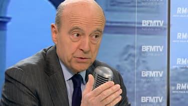 Alain Juppé sur le plateau de BFMTV et RMC