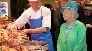 La reine d'Angleterre, en 2011, en visite en Irlande.