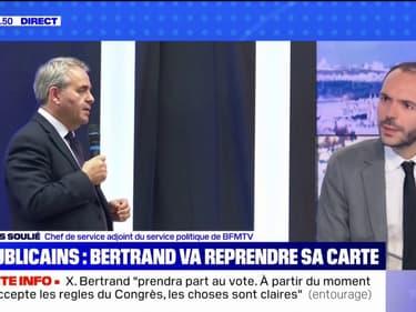 Présidentielle: Xavier Bertrand va reprendre sa carte aux Républicains pour voter au Congrès