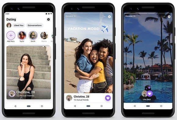 L'interface de Facebook Dating