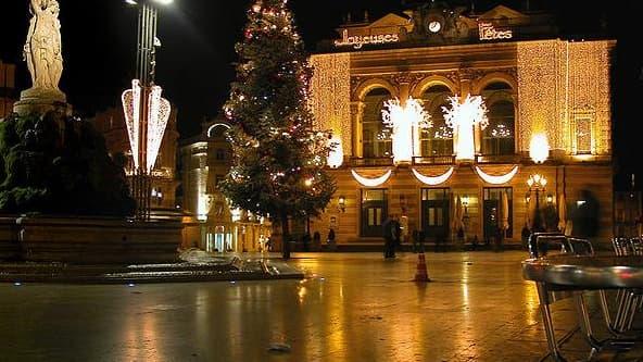 La place de la Comédia dans le centre ville de Montpellier