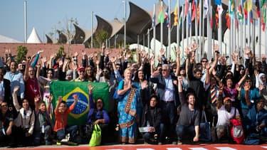 Des membres des délégations internationales de la Cop 22.