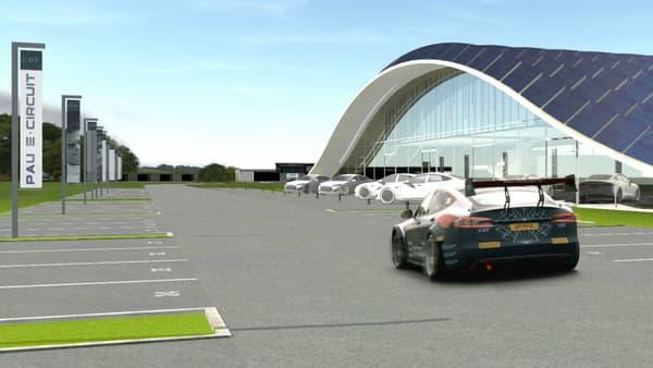 Un architecte palois a imaginé à quoi pourrait ressembler le futur village photovoltaïque du Pau E-circuit à Arnos.