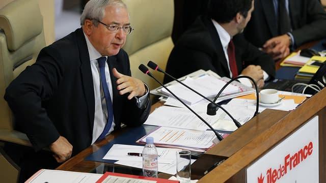 Jean-Paul Huchon lors de son dernier discours en tant que président de la région Ile-de-France, le 25 septembre 2015.