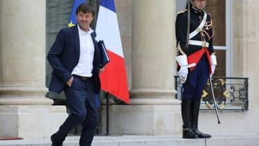 Le ministre de la Transition écologique Nicolas Hulot, le 11 octobre 2017 à l'Elysée, à Paris