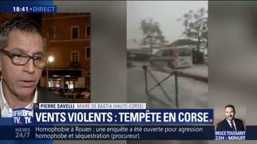"""Tempête en Corse: """"Toute la partie littorale de la ville"""" de Bastia est interdite à la circulation, rappelle le maire"""