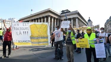"""Manifestation de """"gilets jaunes"""" le 12 septembre 2020, à Paris"""