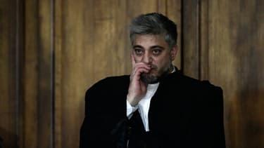 Xavier Nogueras, un des deux avocats de Jawad Bendaoud, à Paris le 24 janvier 2018