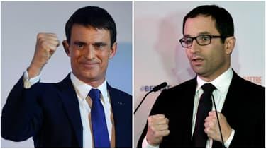 Manuel Valls face à Benoît Hamon