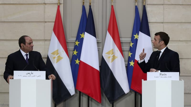 Vif échange entre Macron et le président égyptien au sujet des caricatures de Mahomet