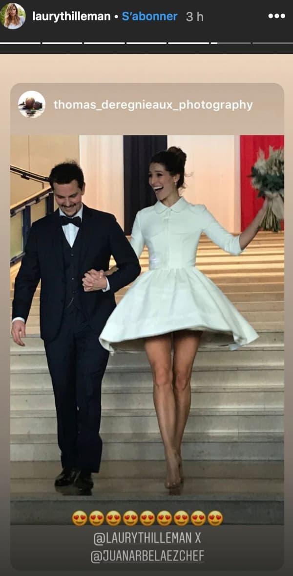 Laury Thilleman et Juan Arbelaez se sont dit oui le 21 décembre.
