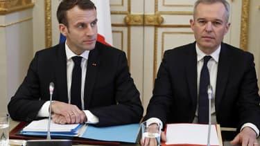 Emmanuel Macron et François de Rugy en décembre 2018.