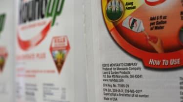 Photo d'illustration d'une étiquette Monsanto.