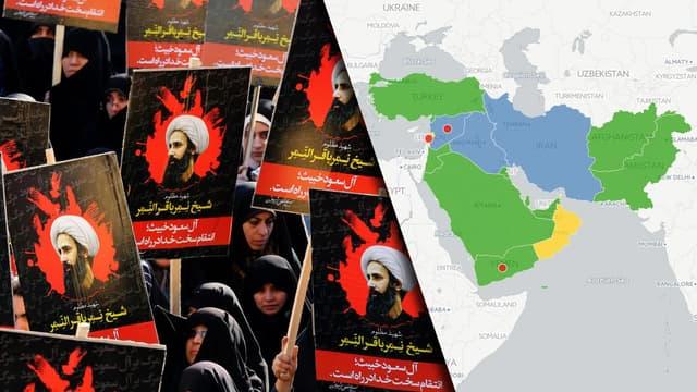 Des Iraniennes lors d'une manifestation le 4 janvier 2016 à Téhéran contre l'exécution d'un dignitaire chiite en Arabie Saoudite