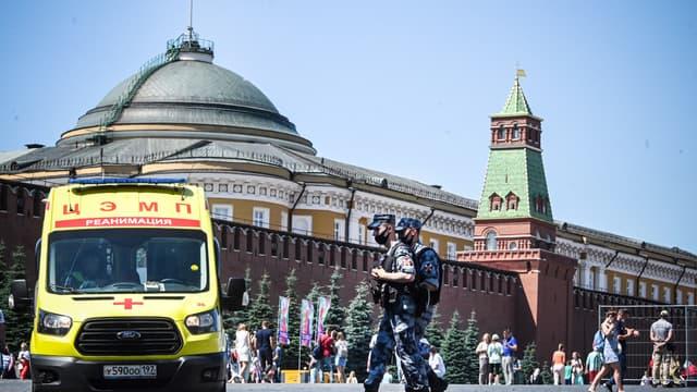 Sur la Place Rouge, à Moscou, le 18 juin 2021.
