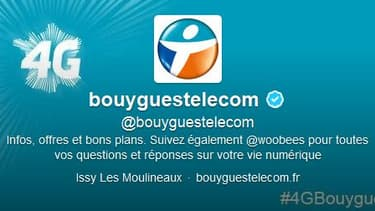 Le compte Twitter officiel de Bouygues Telecom