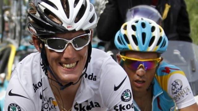 Andy Schleck face à Alberto Contador l'an passé sur les routes du Tour