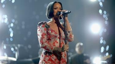 Rihanna en concert, le 13 février 2016.
