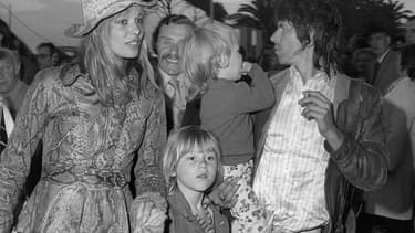 Anita Pallenberg, Keith Richards et leurs enfants, le 12 mai 1971 au 25e Festival de Cannes