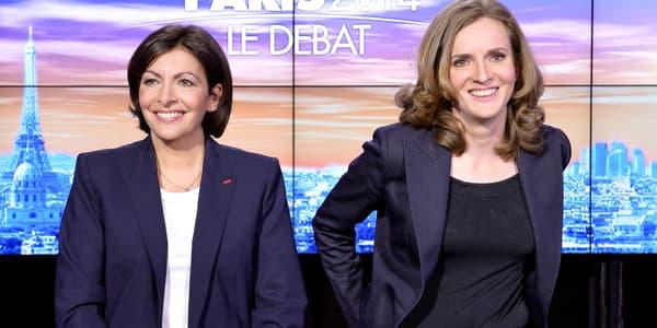 Anne Hidalgo et Nathalie Kosciusko-Morizet le 26 mars, lors du débat d'entre-deux tours des municipales.