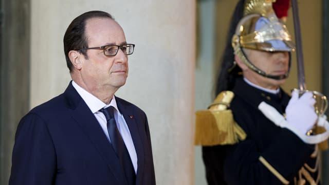François Hollande le 9 février 2015, à l'Elysée.
