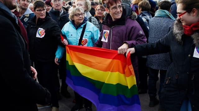 Rassemblement contre l'homophobie à Rouen, le 3 novembre 2018