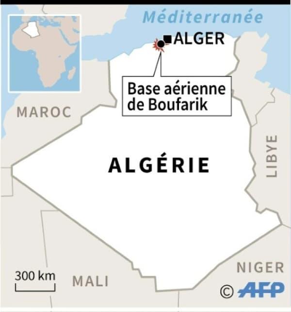 Localisation de la base aérienne de Boufarik