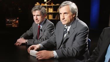 """Alain Minc et Jean-Marie Colombani en 2003 lorsqu'ils dirigeaient """"le Monde"""""""
