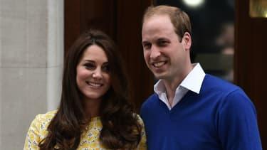 Kate Middleton et le prince William après la naissance de la princesse Charlotte en 2015