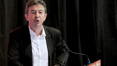 Jean-Luc Mélenchon le 22 août 2014 à l'université d'été du Front de gauche.