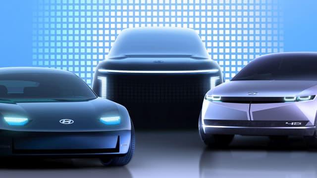 Hyundai prévoit de sortir 3 nouveaux modèles 100% électriques d'ici à 2024.