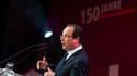 François Hollande était présent au congrès célébrant les 150 ans du parti social-démocrate allemand.