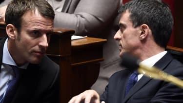 """Manuel Valls considère Emmanuel Macron comme un """"atout pour le gouvernement""""."""