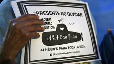 Rassemblement en souvenir de l'équipage du sous-marin San Juan à Buenos Aires, le 15 mai 2018