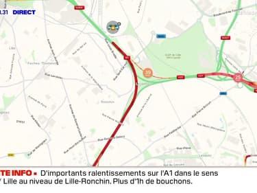 Plus de 15 km de ralentissements sur l'A1 ce jeudi matin