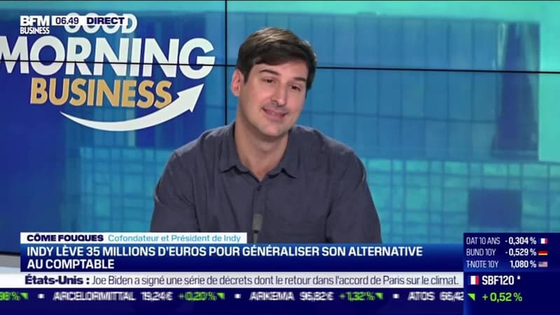 Côme Fouques (Indy) : Indy lève 35 millions d'euros pour généraliser son alternative au comptable - 21/01