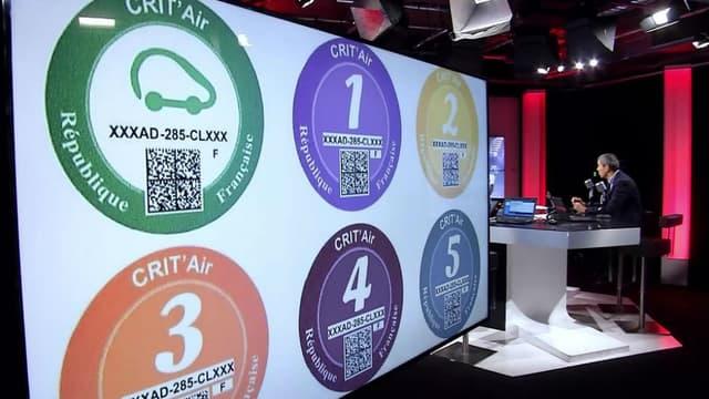 Six vignettes Crit'Air (de 1 à 5 et une verte pour les véhicules les plus propres) mais beaucoup de questions.
