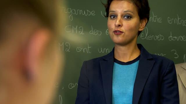 Najat Vallaud-Belkacem tient ce mardi sa traditionnelle conférence de presse pour présenter les nouveautés de la rentrée scolaire.