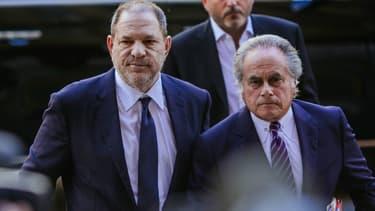 Harvey Weinstein et son avocat.