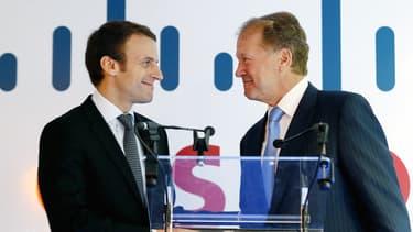 Pour John Chambers, la France est le pays dans lequel il faut investir. Séquence émotion avec Emmanuel Macron, notre ministre de l'économie et du numérique.