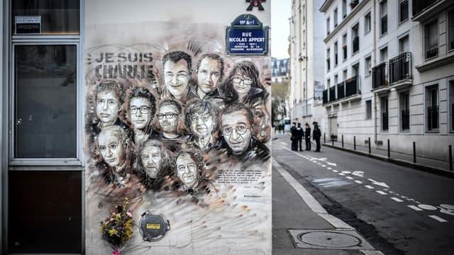 La rue Nicolas Appert à Paris où était survenue l'attaque à l'arme blanche.