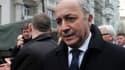 Laurent Fabius quitte le bureau du président ukrainien, désormais destitué, le 20 février 2014.