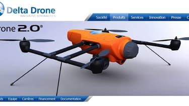 Un des drones proposés par la société basé à Grenoble.